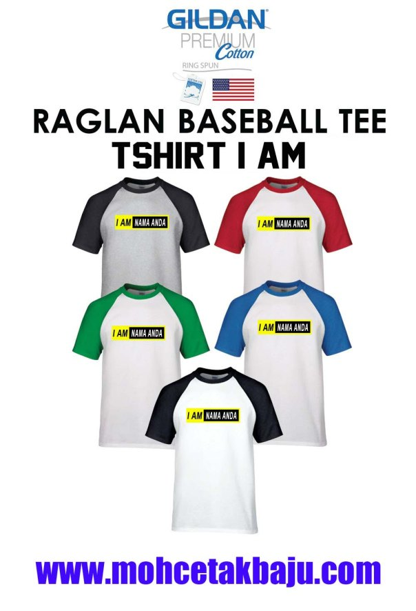 TShirt I AM Baju Raglan Baseball Tee 2 copy