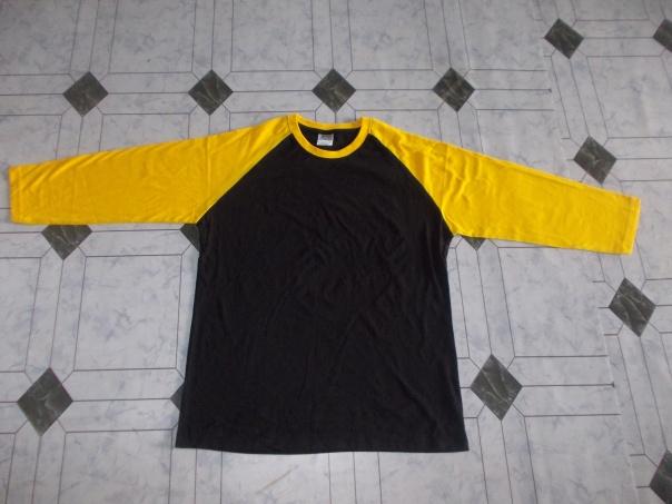 Raglan hitam kuning